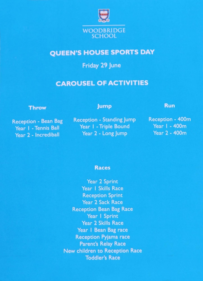 Queen's House Sports Day - 29.06.18